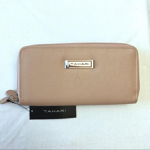 db26830686 Tahari Bags | Double Date Zipper Pink Creamy Wallet | Poshmark
